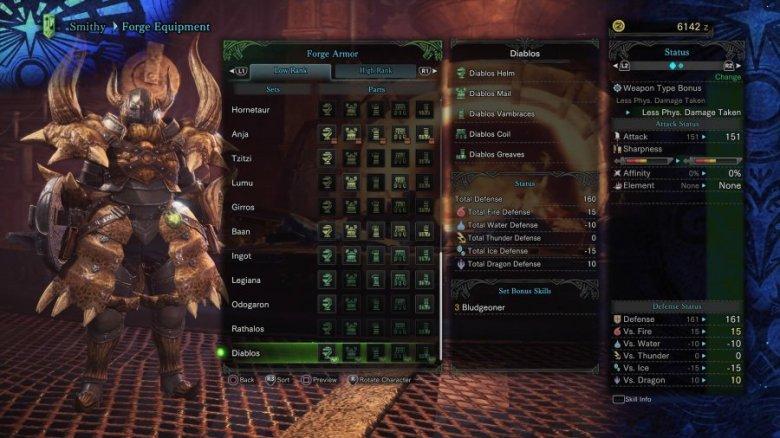 MHW armor